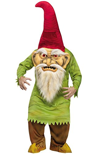 Big Head Evil Gnome Costume - Standard - Chest Size -