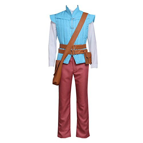 CosplayDiy Men's Suit for Tangled Prince Flynn Rider Cosplay Costume XL -
