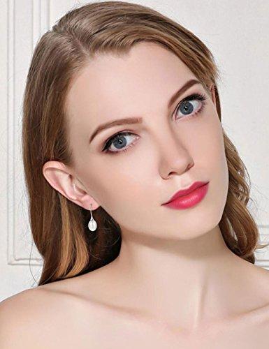 Freshwater Pearl Drop Earrings Sterling Silver Fishhook June Birthstone Gemstone Fine Jewelry for Women by Mints (Image #2)