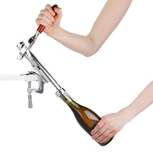 (True 2283 Ease Countertop Wine Bottle Opener, One size, Silver)
