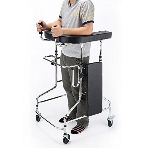 Tx The Elderly Folding Walking Aid Attached with Seat Board Four-Legged Walking Stick Stroke Recovery Walker Walking Aid