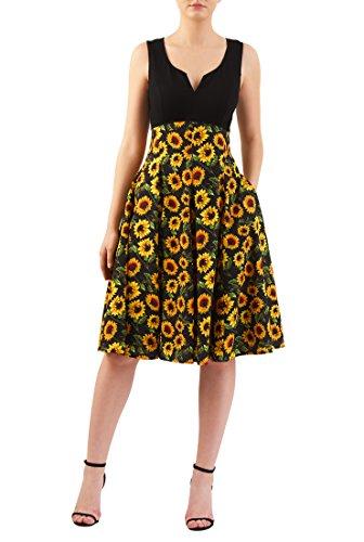 Knit Retro Print Empire Dress - 2