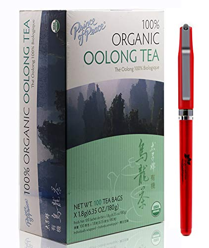 Prince Of Peace Organic Oolong Tea-100 Tea Bags net wt. 6.35oz with Free Inspiration Industry Logo Pen (1-Pack)