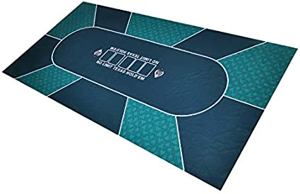 GAMELAND 3mm Thick 70 x 35 Inch Rubber Foam Poker Table Top Layout Poker Mats for Up to 8 Players