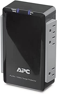 APC P4V Audio/Video 120V Surge Protector 4 Outlet with Coax Protection