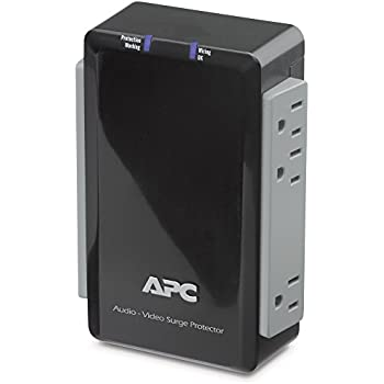 Amazon com: APC P4V Audio/Video 120V Surge Protector 4 Outlet with