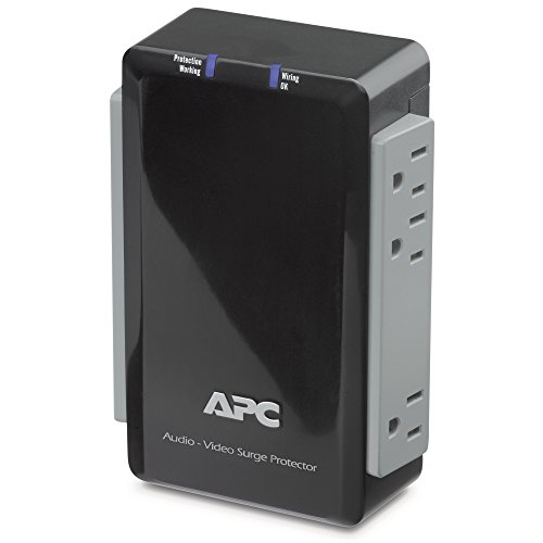 (APC P4V Audio/Video 120V Surge Protector 4 Outlet with Coax Protection.)