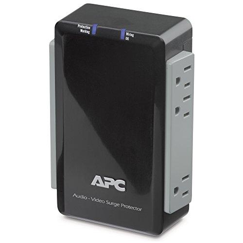 APC P4V Audio/Video 120V Surge Protector 4 Outlet with Coax - Audio Apc