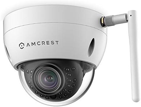 Amcrest ProHD Outdoor 1.3 Megapixel Wi-Fi Vandal Dome IP Security Camera – IP67 Weatherproof, IK10 Vandal-Proof, 1.3MP 1280×960 TVL , IPM-751W White Renewed