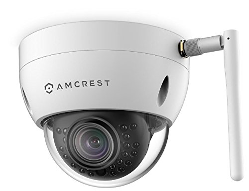 Amcrest ProHD Fixed Outdoor 3-Megapixel (2304 x 1296P) Wi-Fi Vandal Dome IP Security Camera - IP67 Weatherproof, IK10 Vandal-Proof, 3MP (1080P/1296P), IP3M-956W (White) (Renewed)