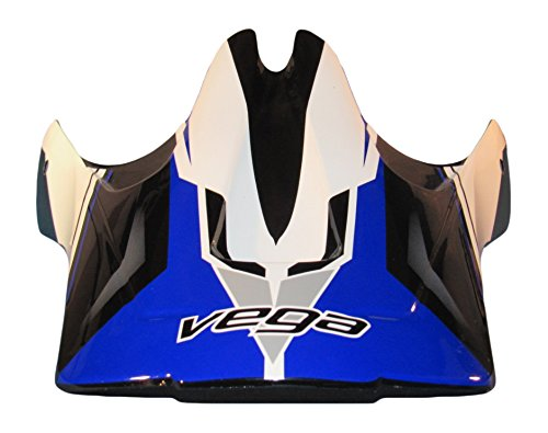 Vega Viper Jr Replacement Off-Road Helmet Visor with Stage Graphics (Blue, One Size)