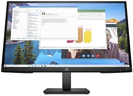 HP M27ha FHD Monitor - Full HD Monitor (1920 x 1080p) - IPS Panel and Built-in Audio - VESA Compatible 27-inch Monitor Designed for Comfortable Viewing with Height and Pivot Adjustment - (22H94AA#ABA)