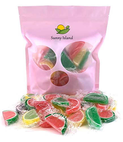 Sunny Island Bulk - Fruit Slices Jelly Candy, Individually Wrapped, Assorted Flavors Classic American Candy, 2 Pounds Bag ()