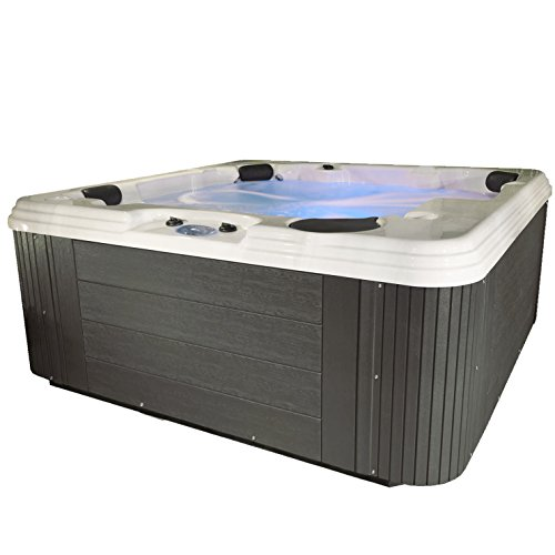 Essential Hot Tubs SS2140507403 Polara-50 Jet Hot Tub, Gray from Essential Hot Tubs
