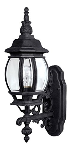 Black French Country 1 Light Outdoor Wall Sconce ()