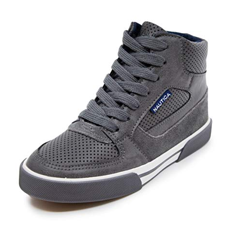 Nautica Kids Horizon Sneaker-Lace Up Fashion Shoe- Boot Like High Top (Little Kid/Big Kid)