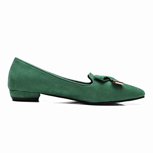 Green Faux Latasa Womens Toe Shoes Nubuck Flats Pointed Latasa Womens wv1nTqx4zw