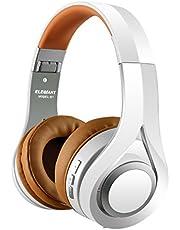 ELEGIANT Auriculares Bluetooth Diadema Cascos Inalámbricos con Micrófono Super-Livianos Sonido Nítido Cancelación Ruido Estéreo Manos Libre de 16 Horas de Uso para Samsung iPhone Huawei Xiaomi Blanco