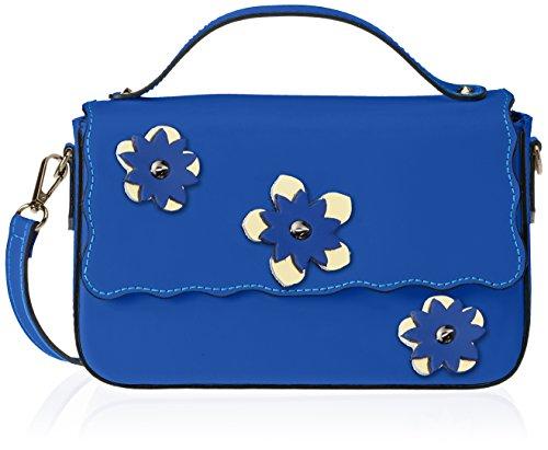 Chicca Borse 1543 - Bolso de mano Mujer Azul (Blue Blue)