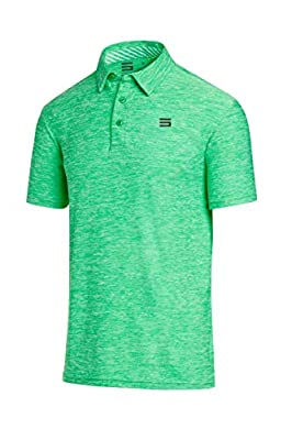 Three Sixty Six Golf Shirts for Men - Dry Fit Short-Sleeve Polo, Athletic Casual Collared T-Shirt
