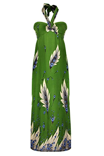 G2 Chic Women's Printed Spring-Summer Maxi Dresss(DRS-MAX,GRNA5-M)