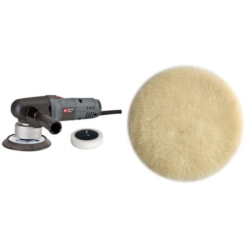 PORTER-CABLE 7346SP 6-Inch Random Orbit Sander with Polishing Pad with 6-Inch Lambs Wool Hook and Loop Polishing Pad