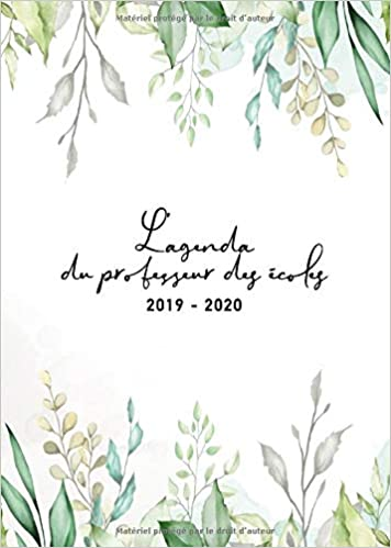 Lagenda du professeur des écoles 2019-2020: Agenda Scolaire ...