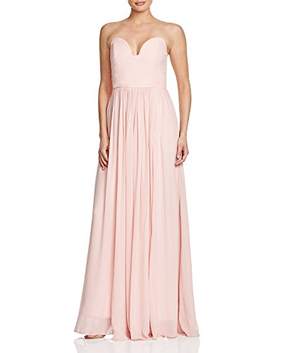 Nicole Miller Women's Sweetheart Neck Strapless Gown Dress In Blush Size (Nicole Miller Strapless Gown)