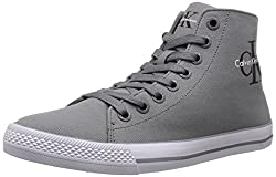 CK Jeans Men's Ozzy Canvas Fashion Sneaker, White, 11 M US