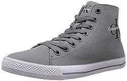 CK Jeans Men's Ozzy Canvas Fashion Sneaker, Grey, 11.5 M US
