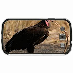 New Style Customized Back Cover Case For Samsung Galaxy S3 Hardshell Case, Black Back Cover Design Headed Vulture Personalized Unique Case For Samsung S3