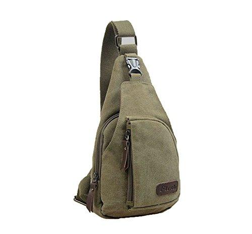 de hombro los de de flowerkui paquete bolsa lienzo Crossbody pecho bolsa deporte verde ejército bolso hombres gtaIw