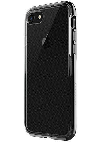iPhone 7 Case, Ice-Case Lite Clear Cover Protective Case with Hard Bumper Frame and Enhanced Grip for Apple iPhone 8/7 [Support Wireless Charging] (Black) ()