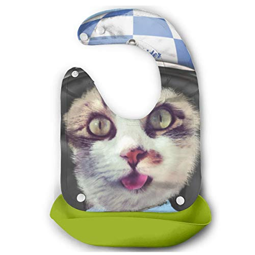 Pussy Rider Soft Waterproof Silicone Baby Bibs For Toddlers ()