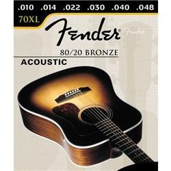 Fender 70Xl 80/20 Bronze Ball End 10-48, Acoustic Guitar Str