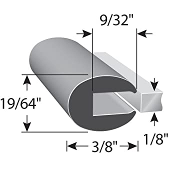 """Fits 1//16/"""" Edge Trim-Lok Rubber Edge Trim Easy Install Machinery 5//16/"""" Leg Length Push-On Edge Guard for Sharp Edges Cars Boats 100 Length Flexible Neoprene Edge Protector for Sharp and Rough Surfaces and More"""
