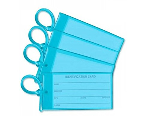 Luggage Tags Sky Blue Set of Four