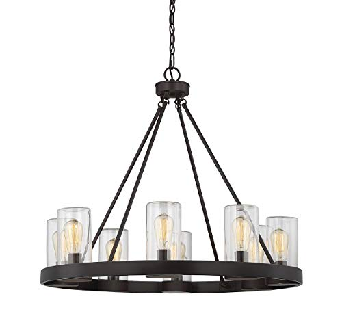 - Savoy House 1-1130-8-13 Inman 8-Light Outdoor Chandelier in English Bronze Finish