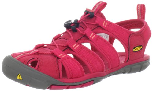 KEEN Women's Clearwater CNX Sandal,Barberry/Hot Coral,9.5 M US