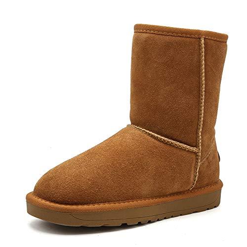 Piatto Neve Invernali Castano Da Donna Impermeabile Sneaker Stivali Scarponi Outdoor Pelliccia Scarpe Caldo qFBcWP