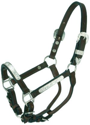 (Royal King Silver Bar Show Halter - Dark Oil - Miniature)