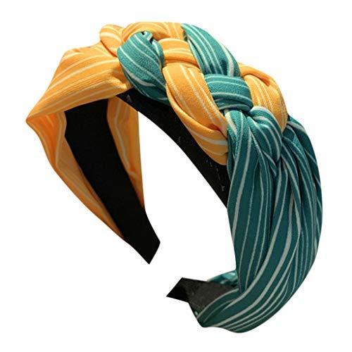 Iusun Headband Striped Cross Tie Wide-Brimmed Hairpin Accessory Women Sweet Girls Beach Hair Care Jewelry Decoration Hairband
