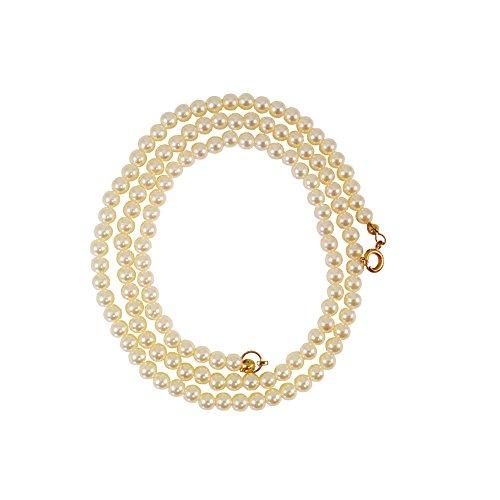 Vintage Faux Pearl (HappyAvenue 3 Vintage Style Single Strand Faux Pearl Necklaces, Petite Faux Pearl Strands (White Pearl))