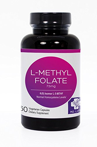Save $$ MD.LIFE 5-MTHF L-Methylfolate 7.5MG Professional Strength Active Folate 60 Capsules