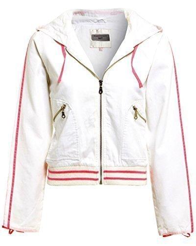SS7 femmes lger veste dcontracte, noir, blanc, Tailles 10 14 Blanc