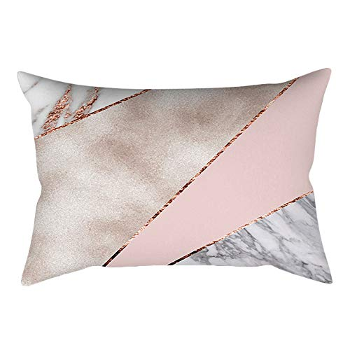 Coral Rose Colored (Throw Pillow Covers, E-Scenery Further Reductions! Rose Gold Pink Rectangle Decorative Throw Pillow Cases Cushion Cover for Sofa Bedroom Car Home Decor, 20 x 12 Inch (F))