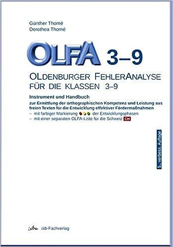 OLFA 3-9: Oldenburger Fehleranalyse für die Klassen 3-9: Instrument ...