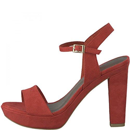28398 Tamaris Sandalen Slingback Damen Red Rot 5wq8AF0w