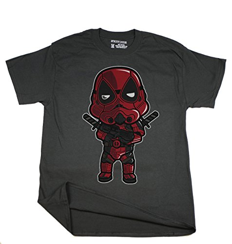 [Inspired by Star Wars Trooper Deadpool Warrior, Men Black 100% Cotton Short Sleeve Casual T-shirt S-5XL,] (Cheap Star Wars Shirts)