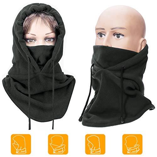 MOHOO Ski Mask Fleece Balaclava Adjustable Windproof Winter Half Face Mask Lengthened Warm Ski Balaclava for Men Women…